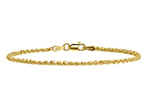 14k Yellow Gold 2mm Regular Rope Chain