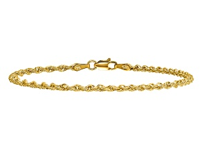 14k Yellow Gold 2.25mm Regular Rope Chain