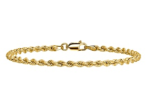 14k Yellow Gold 2.75mm Regular Rope Chain