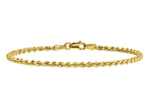 14k Yellow Gold 2.5mm Regular Rope Chain