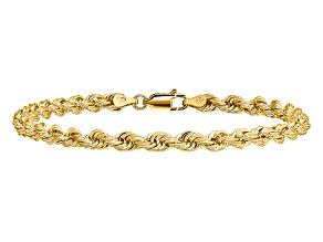 14k Yellow Gold 4mm Regular Rope Chain