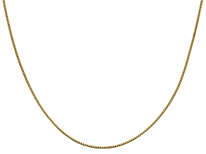 14k Yellow Gold 0.95mm Box Chain 20 Inches