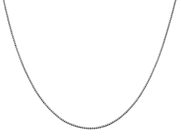 Picture of 14k White Gold 0.95mm Box Chain 16 Inches