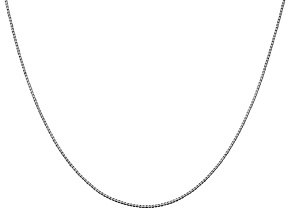 14k White Gold 0.95mm Box Chain 20 Inches