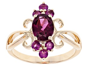 Pre-Owned Purple Garnet 10K Yellow Gold Ring 1.74ctw