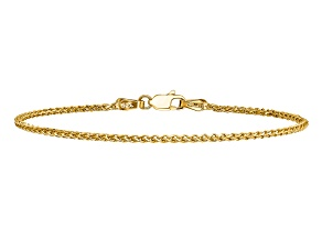 Pre-Owned 14k Yellow Gold 1.4mm Diamond-cut Spiga Chain