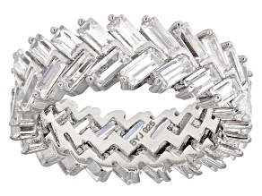 Pre-Owned Cubic Zirconia Silver Band 9 43ctw