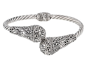 Pre-Owned Sterling Silver Bypass Bracelet