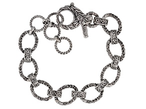 Pre-Owned Sterling Silver Oval Chain Link Bracelet