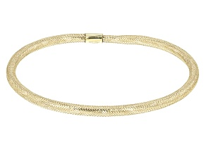 Pre-Owned 10K Yellow Gold 2.5MM Mesh Bangle Bracelet