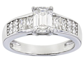 Pre-Owned Moissanite Platineve Ring 1.53ctw DEW.