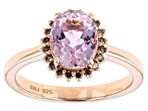 Pre-Owned Pink Kunzite 18K Rose Gold Over Sterling Silver Ring 2.13ctw