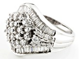 Pre-Owned Cubic Zirconia Rhodium Over Sterling Silver Ring 3.84ctw (2.27ctw DEW)