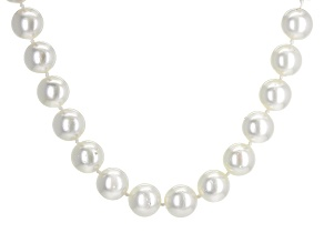 Pre-Owned Cultured South Sea Pearl 14k Yellow Gold Necklace 10-12mm