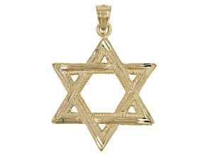Pre-Owned 14KT Yellow Gold Polished Star of David Pendant