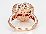 Pre-Owned Pink And White Cubic Zirconia 18k Rg Over Silver Ring 3.81ctw