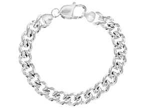 Pre-Owned Sterling Silver 9.50MM Curb Bracelet