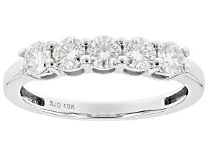 Pre-Owned Moissanite 10k White Gold Ring .80ctw DEW.