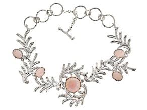 Pre-Owned Pink Peruvian Opal Sterling Silver Bracelet
