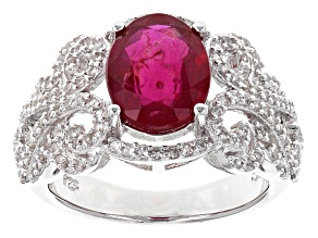 Pre-Owned Mahaleo Ruby Sterling Silver Ring 3.74ctw