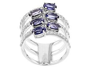 Pre-Owned Blue Iolite Sterling Silver Ring 3.29ctw