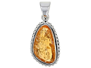 Pre-Owned Rough Citrine Sterling Silver Pendant