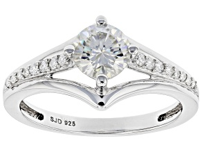 Pre-Owned Moissanite Platineve Ring .96ctw DEW