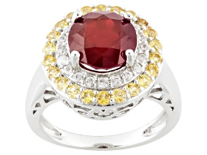 Pre-Owned Mahaleo Ruby Sterling Silver Ring 4.26ctw