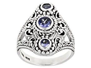Pre-Owned Blue Tanzanite Sterling Silver Ring .73ctw