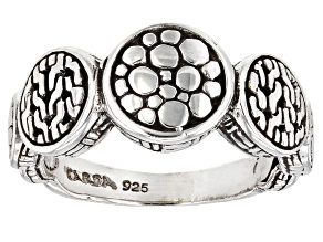 """Pre-Owned Sterling Silver """"He Sustains Us"""" Band Ring"""