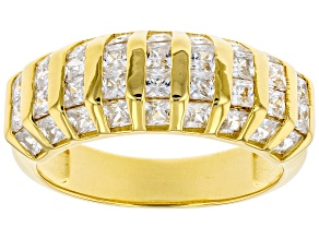 Pre-Owned White Cubic Zirconia 18K Yellow Gold Over Sterling Silver Ring 3.16ctw