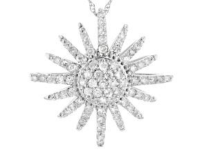 Pre-Owned White Diamond 10K White Gold Pendant 0.62ctw