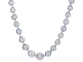 Pre-Owned Silver Cultured Freshwater Pearl Rhodium Over Sterling Silver 18 Inch Necklace