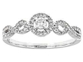 Pre-Owned White Diamond 10K White Gold Ring 0.25ctw