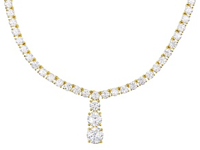 Pre-Owned White Cubic Zirconia 18k Yg Over Sterling Silver Necklace 32.31ctw