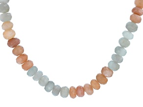 Pre-Owned Multi-Moonstone Sterling Silver Necklace