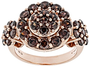 Pre-Owned Mocha Cubic Zirconia 18K Rose Gold Over Sterling Silver Ring 4.96ctw