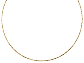Pre-Owned 18K Yellow Gold Over Sterling Silver 2.17MM Reversible Omega Chain 20 Inch Necklace