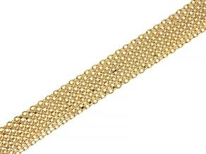 Pre-Owned 18k Gold Over Sterling Silver Multi-Strand Bracelet