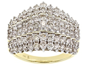 Pre-Owned Candlelight Diamonds™ 10K Yellow Gold Pyramid Ring 2.00ctw