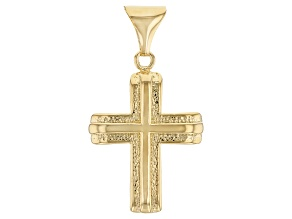 Pre-Owned Moda Al Massimo™ 18K Yellow Gold Over Bronze Cross Pendant