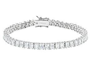 Pre-Owned White Cubic Zirconia Platineve Bracelet 16.74ctw