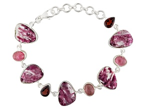 Pre-Owned Pink Tourmaline Sterling Silver Bracelet 3.38ctw