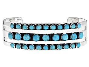 Pre-Owned Turquoise Kingman Sterling Silver Bracelet