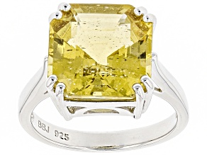 Pre-Owned Yellow apatite sterling silver ring 7.61ct