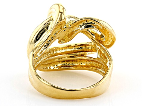 Pre-Owned Moda Al Massimo™ 18K Yellow Gold Over Bronze Knot Ring