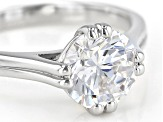 Pre-Owned White Cubic Zirconia Rhodium Over Sterling Silver Ring 3.45ctw