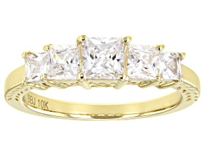 Pre-Owned White Cubic Zirconia 10k Yellow Gold Ring 2.35ctw