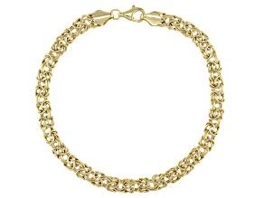 Pre-Owned 10K Yellow Gold 5MM High Polished Byzantine Link Bracelet