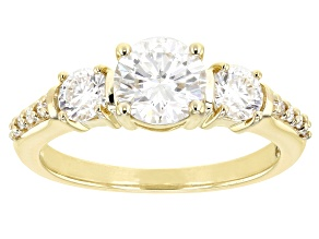 Pre-Owned Moissanite 10k yellow gold ring 1.54ctw DEW.